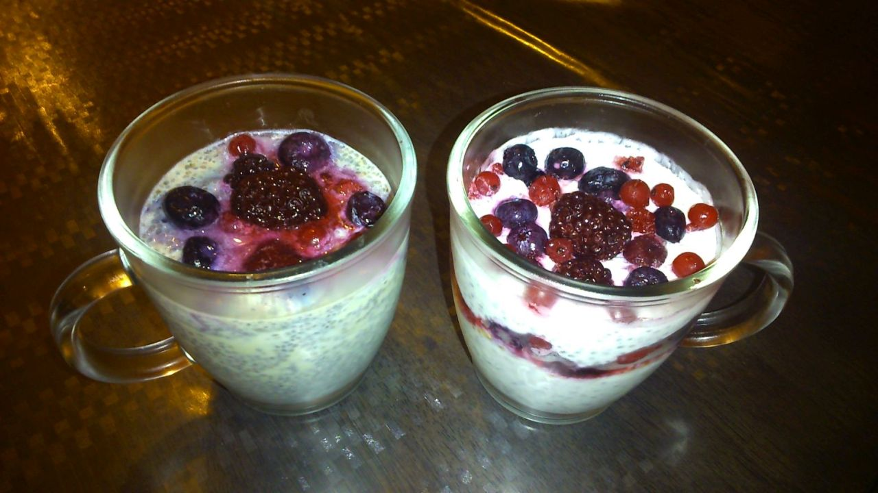 Chia puding recepty